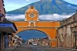 Antigua Clock Tower Arch Walkway  FleeAmerica