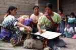 Guatemala Women Baking Corn Totillas FleeAmerica