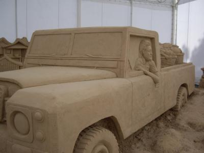 Car Stuck - World Sand Sculpture Festival Thailand