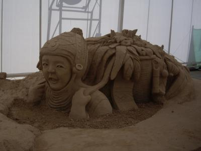 Lady Buried - World Sand Sculpture Festival Thailand