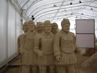 Soldiers Marching - World Sand Sculpture Festival Thailand