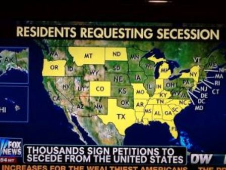 American Citizens of Several States Seek Peaceful Secession